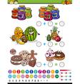 mathematical game cartoon vector image vector image