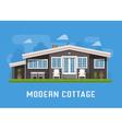 Modern Cottage on Rural Background vector image vector image