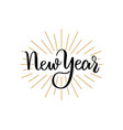 new year lettering handdrawn text merry christmas vector image