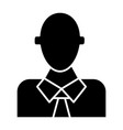 office worker solid icon manager vector image vector image