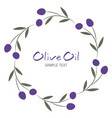 olive branch wreath isolated on white background vector image