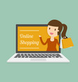 online shopping vector image vector image