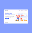oprtimize website for success landing page seo vector image