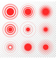 pain target red ring from thin to thick vector image vector image