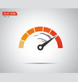 performance measurement logo speed icon vector image vector image