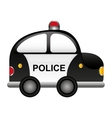 police patrol vehicle cartoon vector image vector image
