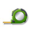 realistic measuring tape roulette 3d icon vector image