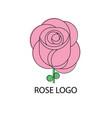 rose logo design vector image vector image