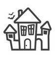 scary house line icon halloween and scary vector image vector image