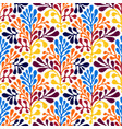 seamless mexican style floral pattern vector image vector image