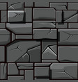 seamless texture of gray geometric stone vector image vector image
