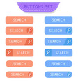 search buttons set collection of web buttons vector image vector image