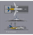 set airplane on runway isolated vector image