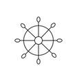 ship handwheel icon vector image