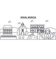 spain murcia architecture line skyline vector image vector image