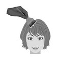 staining of female hair in a hairdresser hair vector image vector image