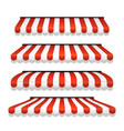 store awning shop canopy store tent red striped vector image