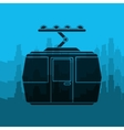 tram transport coveyance icon vector image vector image