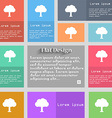 Tree Forest icon sign Set of multicolored buttons vector image