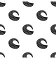 wave icon in black style isolated on white vector image