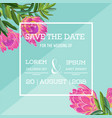 Wedding invitation template with protea flowers