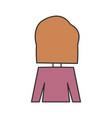 woman back cartoon vector image vector image