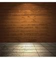 Wooden room with light floor vector image