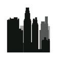 buildings silhouette urban landscape american vector image