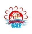 season summer sale banner vector image