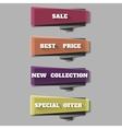 sale banner template design web banners set vector image