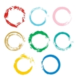 set with colorful circle for frames banner vector image