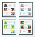 abstract banner design set vector image