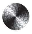 abstract black and white geometry round vector image