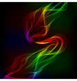 Abstract design-colorful waves on the dark vector image vector image
