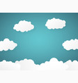 abstract of gradient blue sky with clouds paper vector image