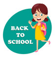 back to school concept beautiful girl vector image vector image