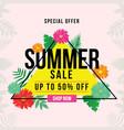 banner design of special offer summer sale vector image