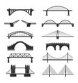 bridge urban construction set city landmark view vector image