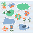 Bubbles speech and birds vector image vector image