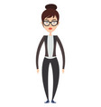 business girl on white background vector image vector image