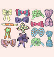 character design cute bows set vector image vector image