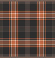check plaid pattern seamless autumn background vector image vector image