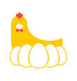 chicken and egg logo for eggs production chicken vector image vector image