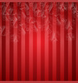 christals hanging on a red background vector image vector image