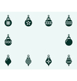 Christmas balls icons vector image