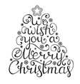 christmas congratulation on white background vector image vector image