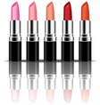 colorful lipstick vector image