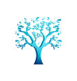 colorful water tree logo template vector image vector image