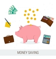 Concept money saving flat vector image vector image
