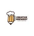 creative brewery logo vector image